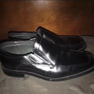 Stacy Adams Black Leather Slip-ons